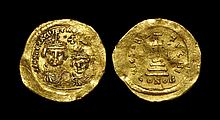 Ancient Byzantine Coins - Heraclius and Heraclius Constantine - Cross Potent Gold Solidus