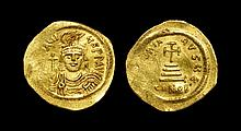 Ancient Byzantine Coins - Heraclius - Cross on Steps Gold Solidus