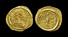 Ancient Byzantine Coins - Justinian I - Victory Gold Tremissis