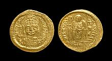 Ancient Byzantine Coins - Justinian I - Angel Gold Solidus