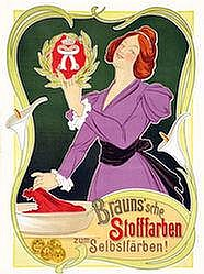 Poster: Brauns'sche Stofffarben