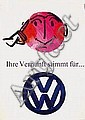 Poster: VW, Looser Hans, Offset print in colours,