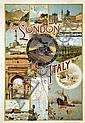 Poster: From London to ltaly - Italian Railways