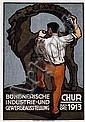 Poster: Bündnerische lndustrieausstellung