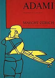 Poster: Adami - Maeght Zürich