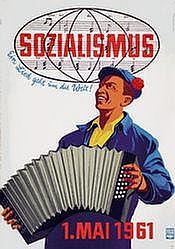 Poster: 1. Mai - Sozialismus