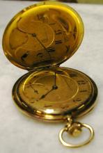 UTI - Montre chronomètre de gousset en or jaune. P