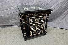 Asian Black Lacquer Side Table
