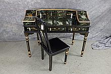 Asian Writing Desk and Chair
