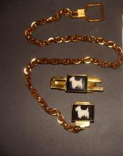 Men's Watch Fob /Money Clip Bakelite Scotty Dog