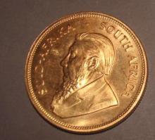 Gold Krugerrand South African Coin 1977