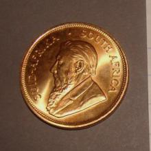 Gold Krugerrand South African Coin 1983