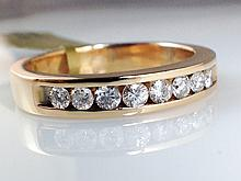14k Yellow Gold Men's 0.60ct Diamond Ring