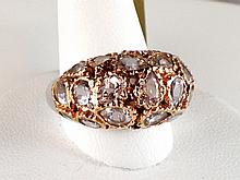 18k White and Rose Gold 7.70ct Morganite Ring