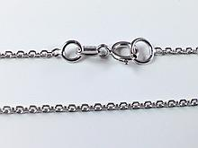 14k White Gold 1.2mm Diamond Cut Rolo Chain 18inches