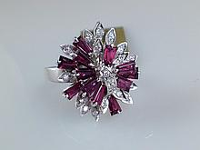14k White Gold 1.44ct Ruby and Diamond Ring