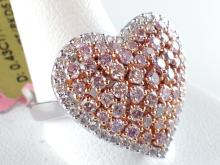 18k White and Rose Gold 1.42ct Fancy Natural Pink Diamond and Diamond Ring
