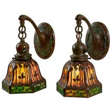 The Handel Lamp Company Palm Tree wall sconces, pair 9