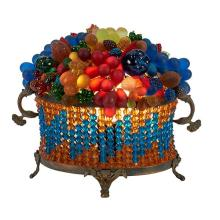 Czechoslovakian Fruit Basket lamp 9.5