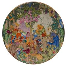 Clarice Cliff (1899-1972) and Frank Brangwyn (1867-1956) for A. Wilkinson Royal Staffordshire charger 13.5