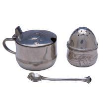 Liberty & Co. Tudric pepper pot, #0349 and salt caster #0348 larger: 2 7/8