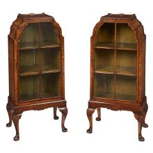 George I Style cabinets on stands, pair 20
