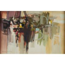 Claude Bentley, (American, 1915-1990), Untitled, 1960, oil on paper, 19.75