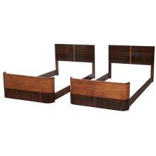 Gilbert Rohde twin beds, pair, no. 3773 79.75'w x 41.25''d x 33.5''h each