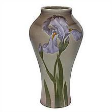 Albert Valentien (1862-1925) for Rookwood Pottery Iris vase, #909A 7.5