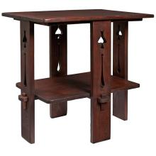 American Arts & Crafts cut-out table 30