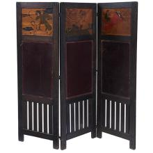 American Arts & Crafts three-panel screen each panel: 24