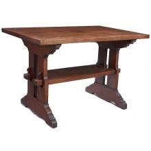 American Arts & Crafts trestle table 44