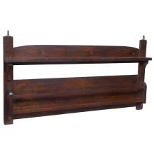 American Arts & Crafts hanging plate rack 48