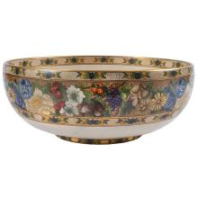 American Arts & Crafts Satsuma center bowl 12.5