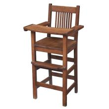 American Arts & Crafts spindle-back high chair 19
