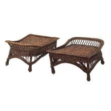 American Arts & Crafts footstools, pair 25