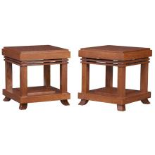 Bexley Heath Ltd., after a design by Frank Lloyd Wright (1867-1959) tabourets, pair 14
