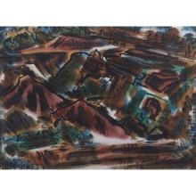 J. Jesse McVicker, (American, 1911-2004), Untitled, 1948, watercolor, 22.5