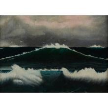 Artist Unknown , 20th century, Seascape, oil on canvas, 16.25