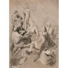 Jacques Villon, (French, 1875-1963), L'appel de la vie (Les filles), 1938, etching, 15