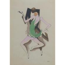 Paul Colin, (French, 1892-1985), A pair of works, pochoir, 18