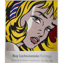 Roy Lichtenstein, (American, 1923-1997), The Parrish Art Museum, Southampton, New York, 1982, poster, 58