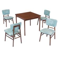 Greta Magnusson Grossman dining set, table and four chairs table: 32.75