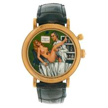 Value Swiss L'Heure d'Amour: Surgeon on the Job concealed erotic automated wristwatch face: 1 3/8