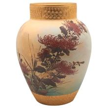 Matthew A. Daly (1860-1937) for Rookwood Pottery Chrysanthemums vase, #162B 9