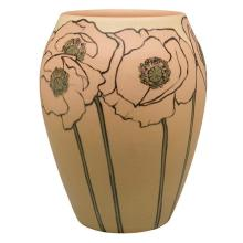 Anna Marie Valentien (1862-1947) for Rookwood Pottery Poppies vase, #942B 6.5