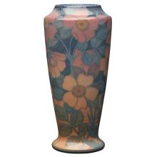 Kataro Shirayamadani (1865-1948) for Rookwood Pottery Wild Roses vase, #1356E 4