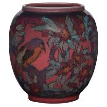 Edward Timothy Hurley (1869-1950) for Rookwood Pottery Birds and Branches vase, #2245 7.5