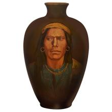 Sturgis Laurence (1870-1961) for Rookwood Pottery Big Navajo Native American portrait vase, #787C 7