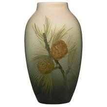 Clara C. Lindeman (1871-1960) for Rookwood Pottery Pine Tree Branches vase, #900D 4
